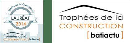 lauréat trophées de la construction 2014