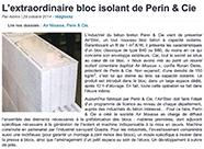 L'extraordinaire bloc isolant de Perin & Cie