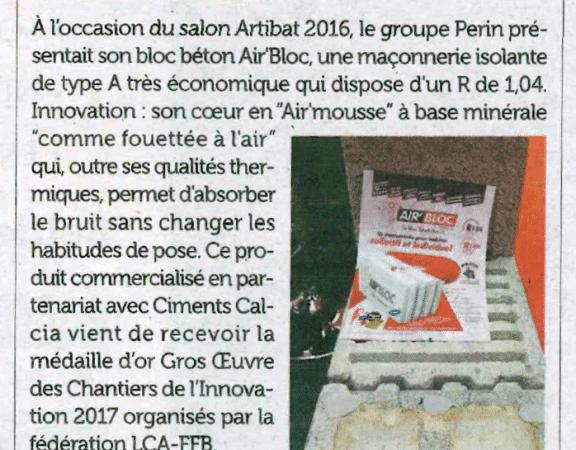 Un article sur Air'Bloc dans le magazine Zepros